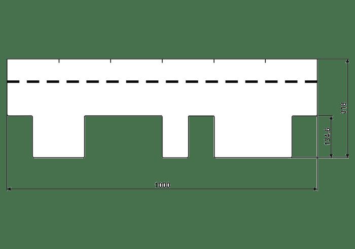 размер черепицы IKO Skyline