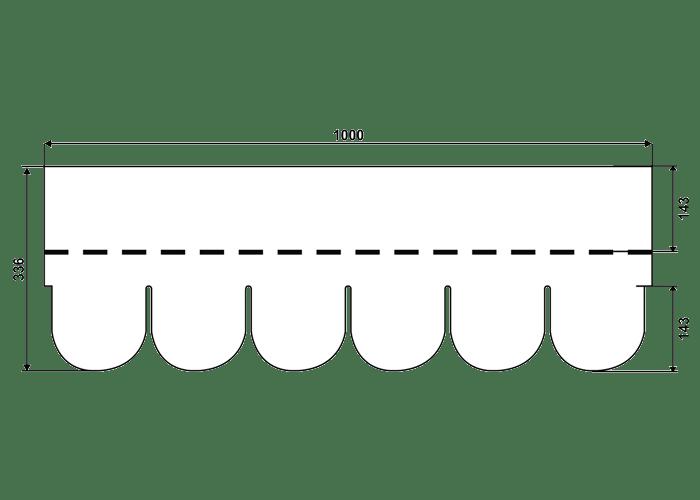 размер черепицы IKO Бобровый хвост