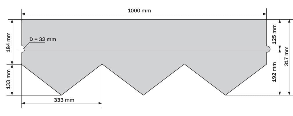 размер гонта Ruflex Briss