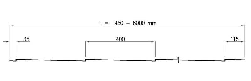 размер металлочерепицы Декоррей