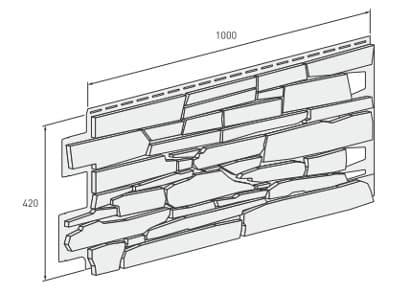 размер панели VOX (Вокс) SOLID Stone