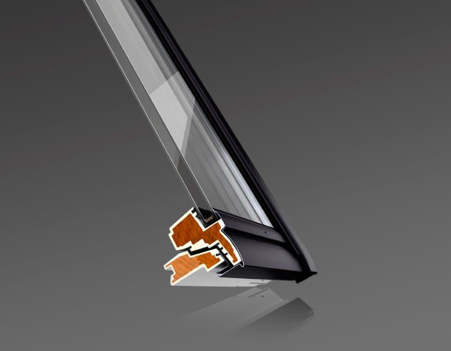 Мансардное окно VELUX GGU INTEGRA (Велюкс ГГУ ИНТЭГРА) 0073 Окно в разрезе