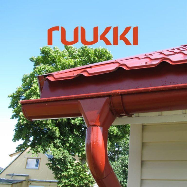 Ruukki | Металлическая водосточная система.