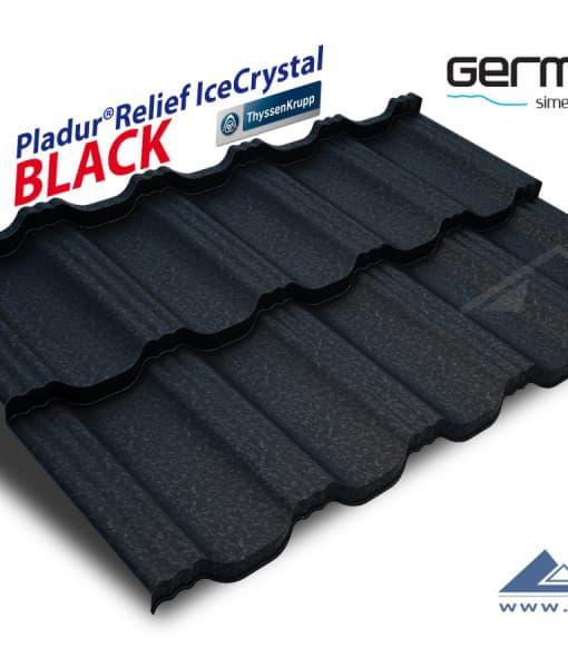 Blachotrapez Germania IceCrystal (RAL 9005, черный)