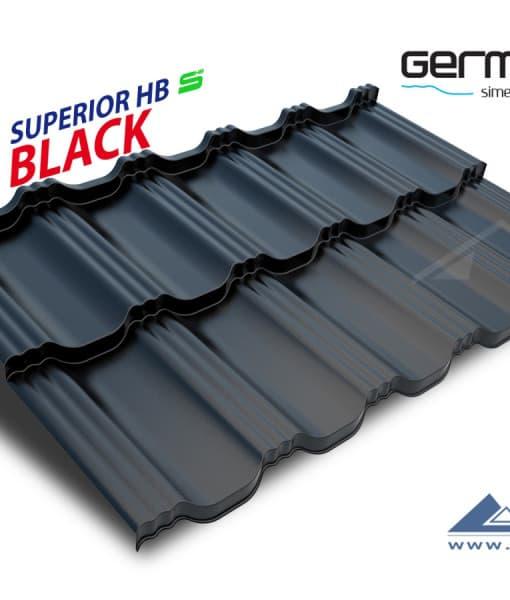 Blachotrapez Germania Superior HB (RAL 9005, черный)