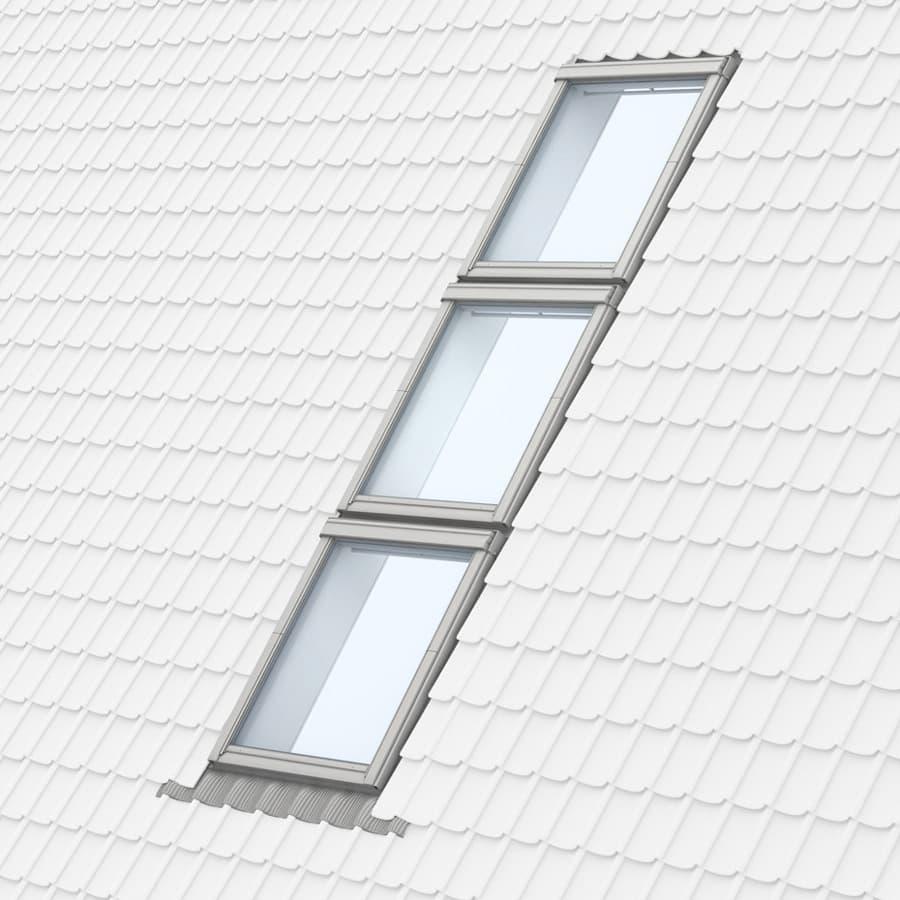 Комбинация три окна друг над другом по вертикали