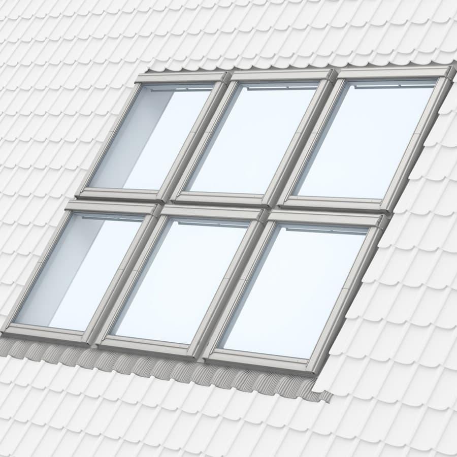 Комбинация два ряда по три окна