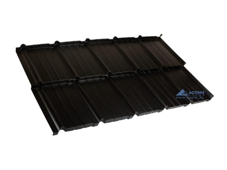 Модульная металлочерепица Мурано X-matt 015 Черный