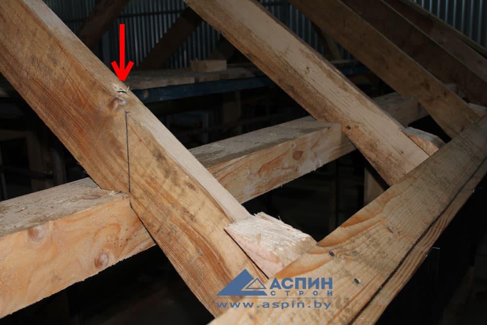 Винт плотницкий для монтажа деревянных кровельных конструкций