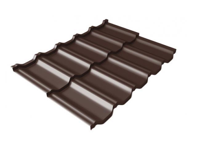 Металлочерепица Квинта UNO Atlas, RAL8017 (шоколад)