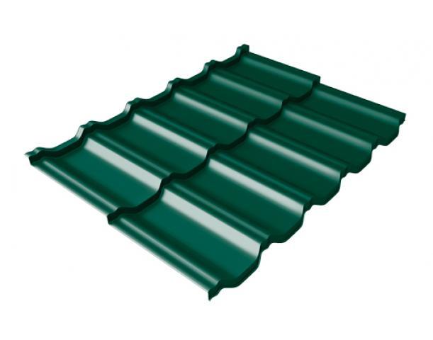 Металлочерепица Квинта UNO Drap, RAL6005, зеленый мох