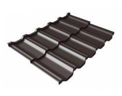 Металлочерепица Квинта UNO Drap, RR 32, темно-коричневый