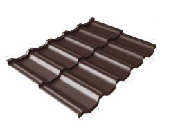 Металлочерепица Квинта UNO Quarzit Lite, RAL8017 (шоколад)
