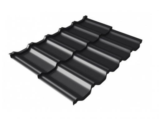 Металлочерепица Квинта UNO Quarzit Lite, RAL9005 (черный)