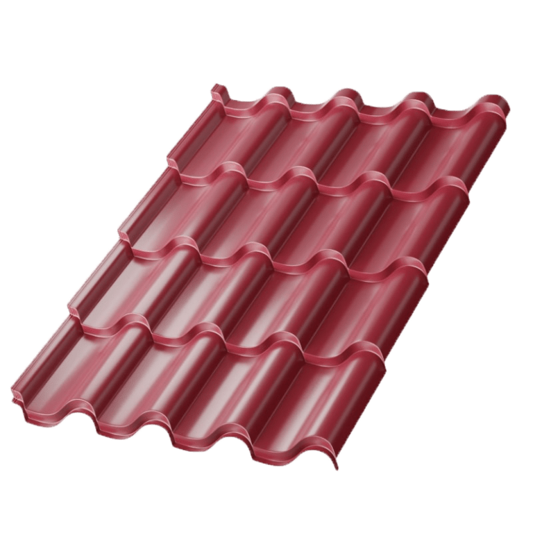 Металлочерепица МеталлПрофиль Монтерроса Norman MP, цвет - RAL3005