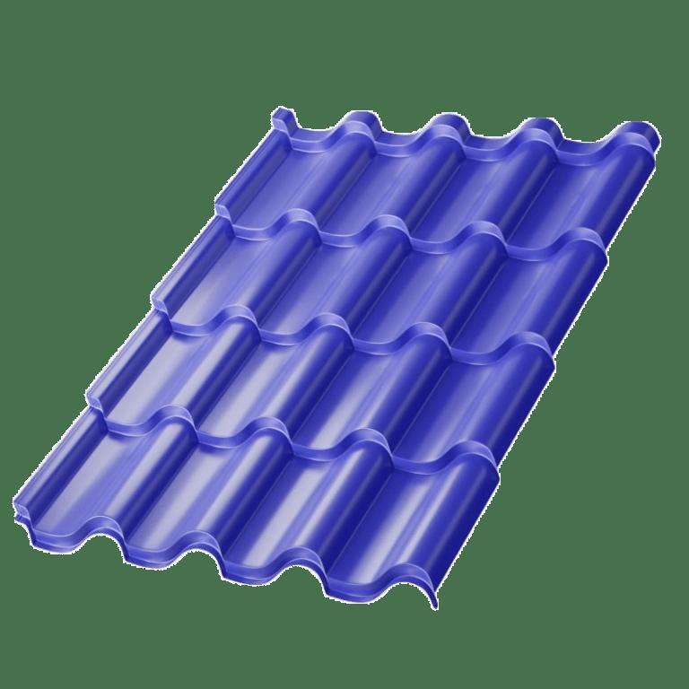 Металлочерепица МеталлПрофиль Монтерроса Norman MP, цвет - RAL5002