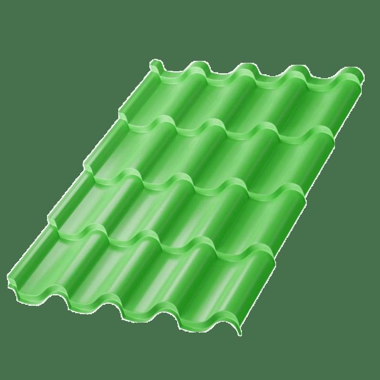 Металлочерепица МеталлПрофиль Монтерроса Norman MP, цвет - RAL6018