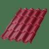 Металлочерепица МеталлПрофиль Монтерроса Purman, цвет - RAL3005