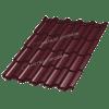 Металлочерепица МеталлПрофиль ТРАМОНТАНА Prisma RAL 3005 (Красное вино)