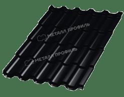 Металлочерепица МеталлПрофиль ТРАМОНТАНА Viking MP-E RAL 8019 (Черный)