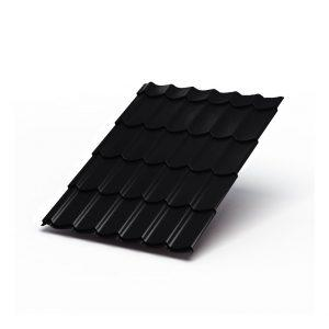 Металлочерепица МеталлПрофиль Супермонтеррей Purman RAL 9005 (Черный)