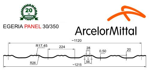 Модульная металлочерепица Dachpol EGERIA
