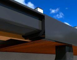 Galeco STAL2, RAL9005 (черная) — прямоугольная металлическая водосточная система
