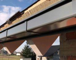 Galeco STAL 2 - прямоугольная металлическая водосточная система, RAL7015 (серая)