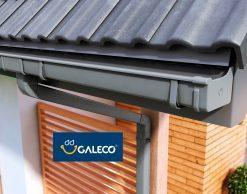 Galeco PVC2, RAL7021, цвет — серый, пластиковая прямоугольная водосточная система