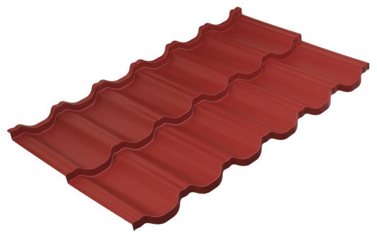 Модульная металлочерепица Руукки Финнера, Pural matt BT, RR-29, темно-красный