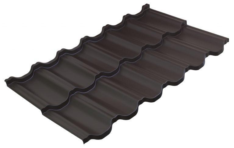 Модульная металлочерепица Руукки Финнера, Pural matt BT, RR-32, темно-коричневый