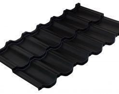 Модульная металлочерепица Руукки Финнера, Pural matt BT, RR-33, черный