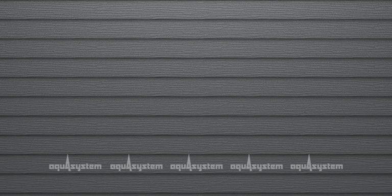 Металлический сайдинг AQUASYSTEM двойная узкая скандинавская доска Pural matt 205 мм. Цвет RR23 Маренго серый.