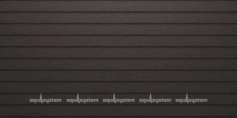 Металлический сайдинг AQUASYSTEM двойная узкая скандинавская доска Pural matt 205 мм. Цвет RR32 темно-коричневый.