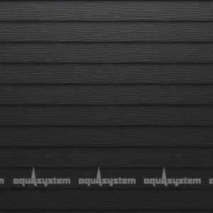 Металлический сайдинг AQUASYSTEM двойная узкая скандинавская доска Pural matt 205 мм. Цвет RR33 черный изумруд матовый.