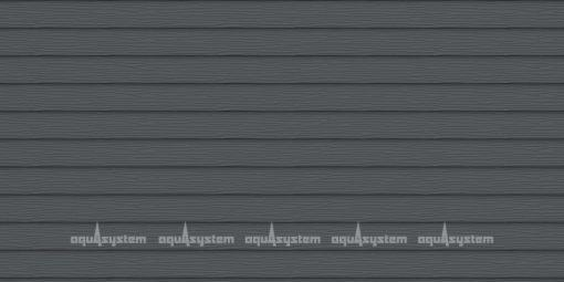Металлический сайдинг AQUASYSTEM двйоная узкая скандинавская доска Pural 205 мм. Цвет Маренго RR23 серый.