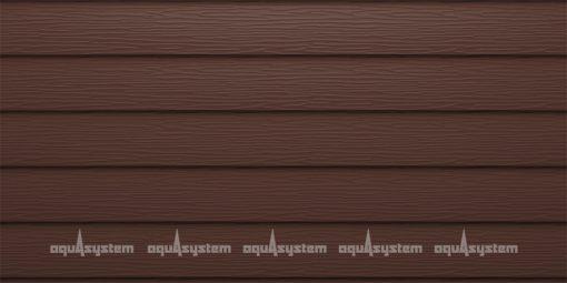 Металлический сайдинг AQUASYSTEM широкая скандинавская доска PE 213 мм. Цвет Коричневый (RAL8017).