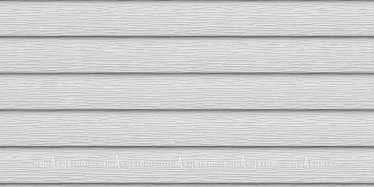 Металлический сайдинг AQUASYSTEM широкая скандинавская доска PE 213 мм. Цвет Мраморно-белый (RR20)