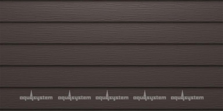 Металлический сайдинг AQUASYSTEM широкая скандинавская доска PE 213 мм. Цвет Темно-коричневый (RR32).