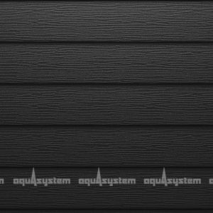 Металлический сайдинг AQUASYSTEM широкая скандинавская доска Pural matt 213 мм. Цвет матовый черный изумруд (RR33, RAL9005)