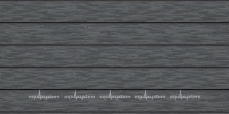 Металлический сайдинг AQUASYSTEM широкая скандинавская доска Pural 213 мм. Цвет Маренго серый (RR23, RAL7024)