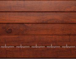 Металлический сайдинг AQUASYSTEM широкая скандинавская доска Printech 213 мм. Цвет Американский орех (Naive)