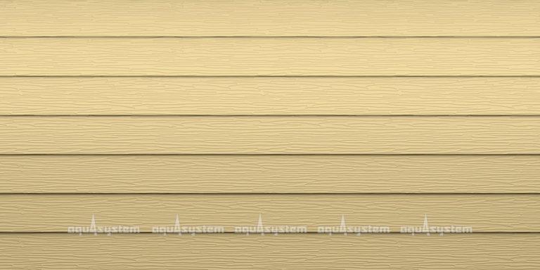 Металлический сайдинг AQUASYSTEM узкая скандинавская доска PE 154 мм полиэстр. Цвет RAL1001 песочный матовый.