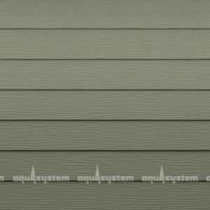 Металлический сайдинг AQUASYSTEM узкая скандинавская доска PE 154 мм полиэстр. Цвет RAL7003 серый мох.