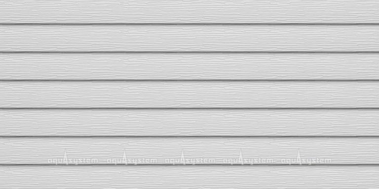 Металлический сайдинг AQUASYSTEM узкая скандинавская доска PE 154 мм полиэстр. Цвет RR20 мраморно-белый.
