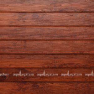 Металлический сайдинг AQUASYSTEM узкая скандинавская доска PRINTECH 154 мм. Цвет Американский орех