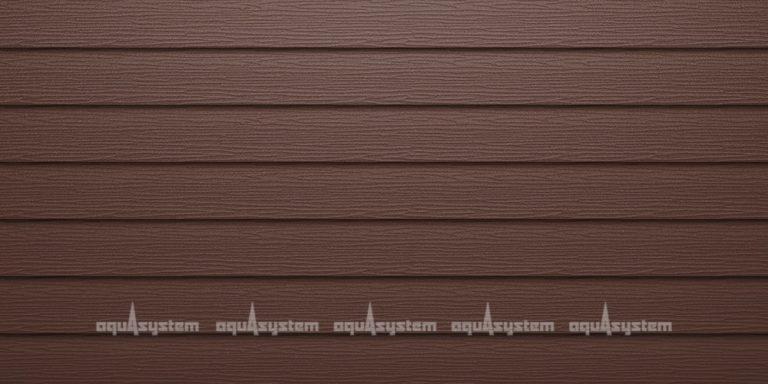 Металлический сайдинг AQUASYSTEM широкая скандинавская доска Pural matt 154 мм. Цвет коричневый RAL8017 коричневый