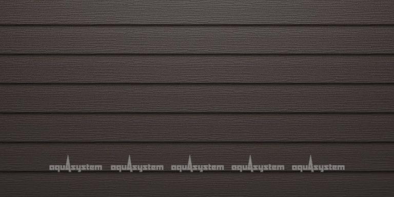 Металлический сайдинг AQUASYSTEM широкая скандинавская доска Pural matt 154 мм. Цвет темно-коричневый (RR32)