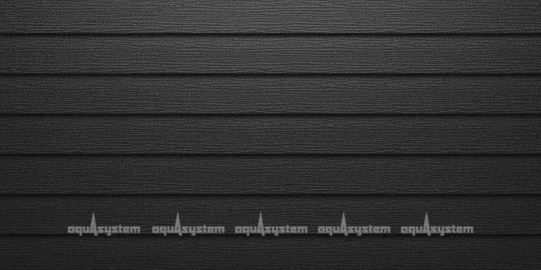 Металлический сайдинг AQUASYSTEM широкая скандинавская доска Pural matt 154 мм. Цвет черный изумруд (RR33)