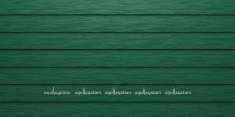 Металлический сайдинг AQUASYSTEM узкая скандинавская доска Pural 154 мм. Цвет RAL6005 зеленый мох